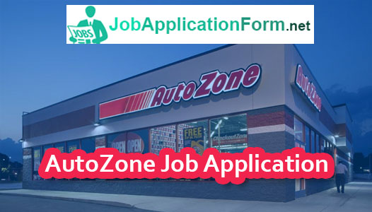 AutoZone Job Application Form