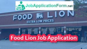 Food Lion Job Application Form