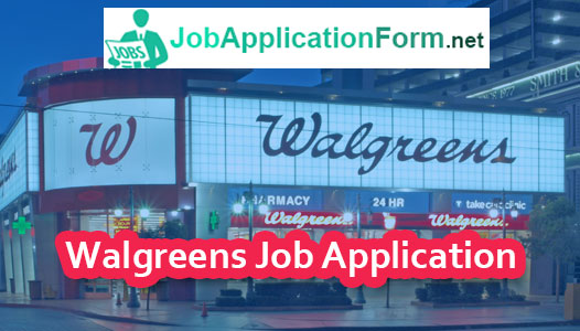Walgreens Job Application Online