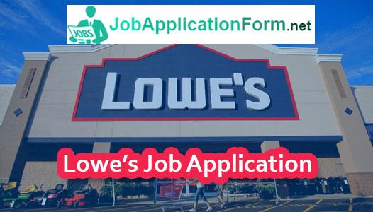 Lowes Job Application Online