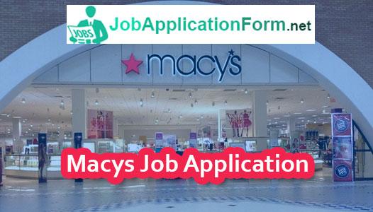 Macys Job Application Form 2018 Jobapplicationform