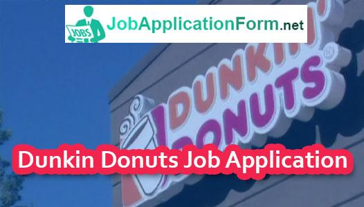 Dunkin Donuts Job Application Online