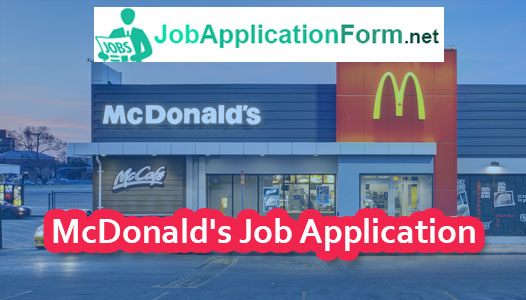 McDonald's Job Application Online