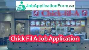 Chick Fil A Job Application Online