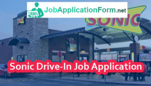 Sonic Drive-In Job Application Form