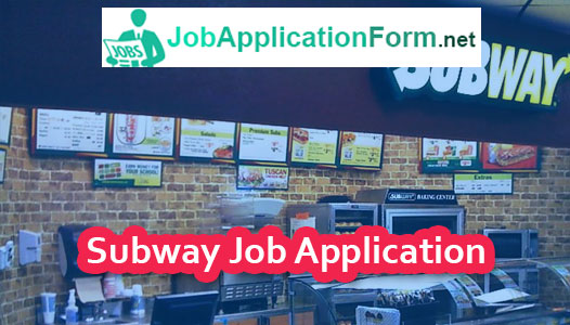 Subway Job Application Form 2018 Jobapplicationform