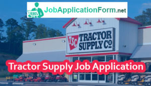 Tractor Supply Co Job Application Online