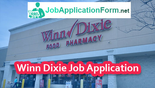 Winn Dixie Job Application Online