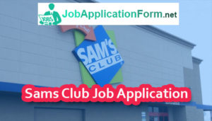Sams Club Job Application Online