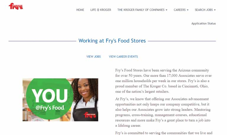 Fry's Food and Drug Application
