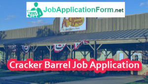 Cracker Barrel Job Application Form