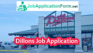 Dillons Job Application Form