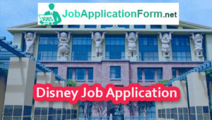 Disney Job Application Form