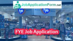 FYE Job Application Form