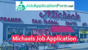 Michaels Job Application Form