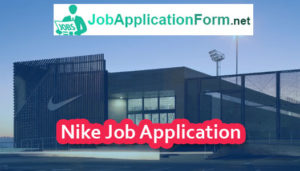Nike Job Application Form
