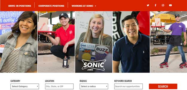 Sonic Drive-In Application Online