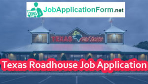 Texas Roadhouse Job Application Form