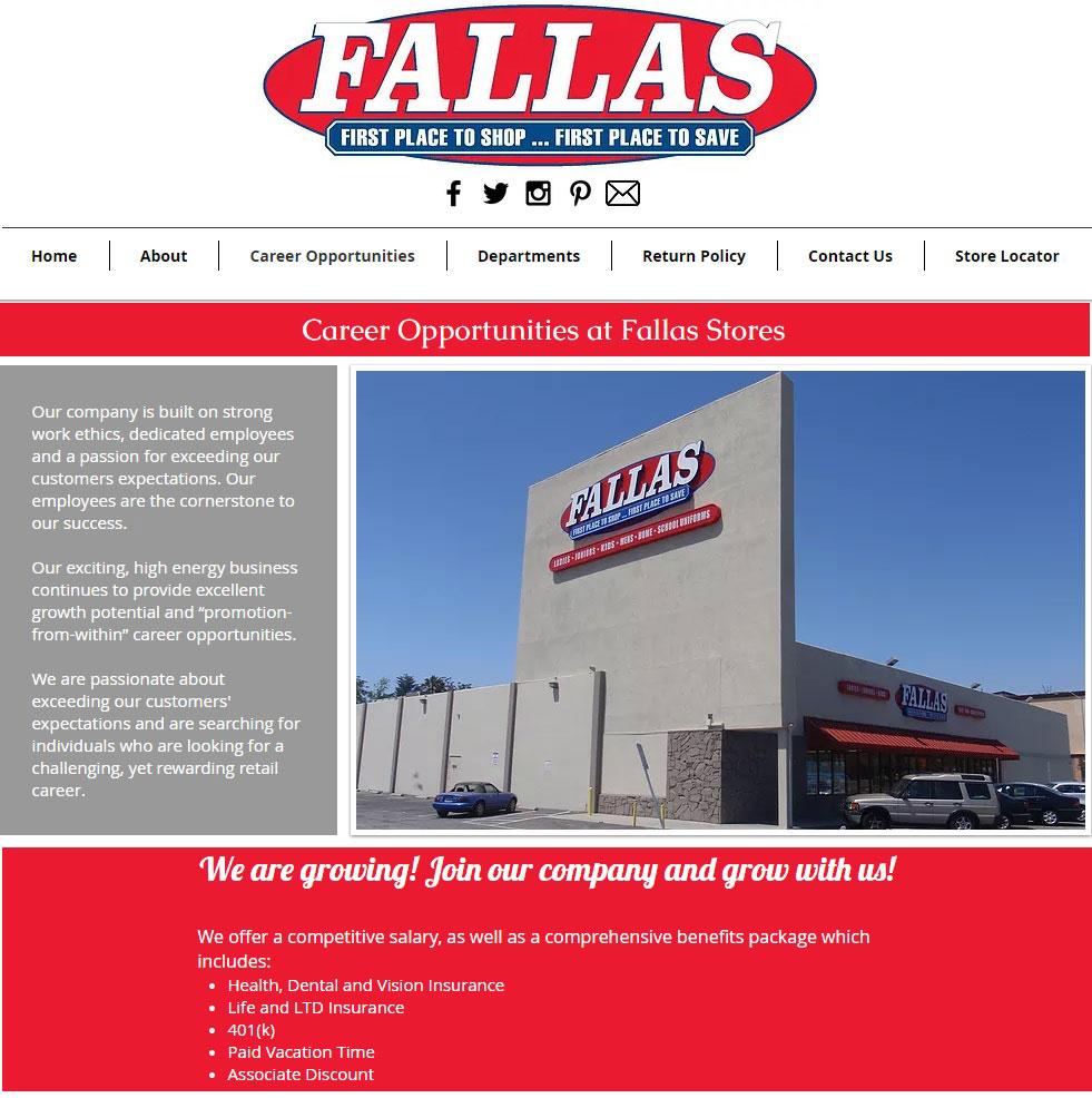 fallas discount store jobs
