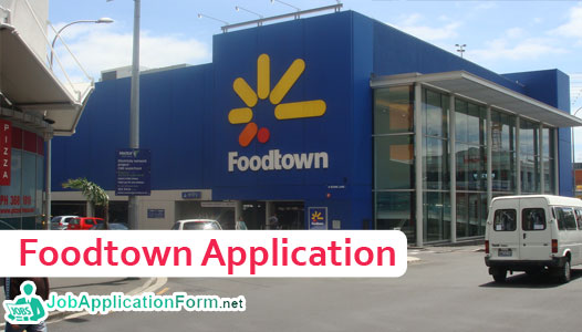 Foodtown Job Application