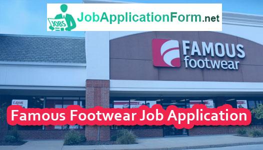 Famous Footwear Job Application Form