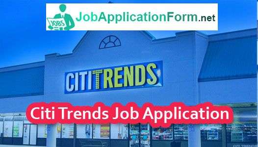Citi Trends Job Application form