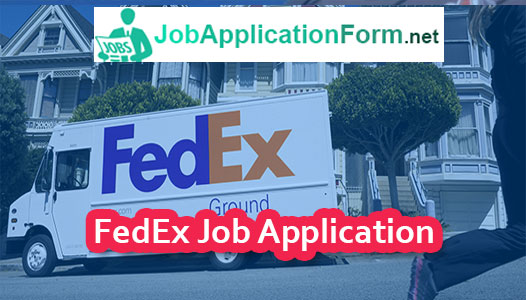 FedEx Application Online & PDF 2020