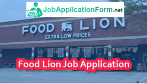 Food Lion Job Application Form