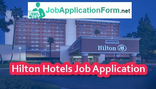 Hilton Hotels Application Online & PDF 2020