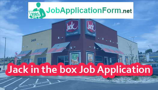 Jack In The Box Application Online & PDF 2020