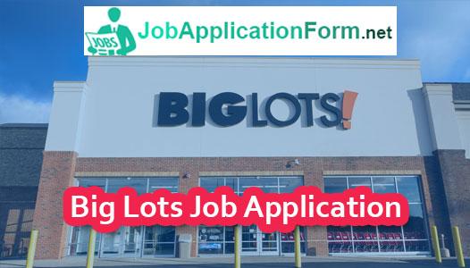Big Lots Application Online PDF & 2019