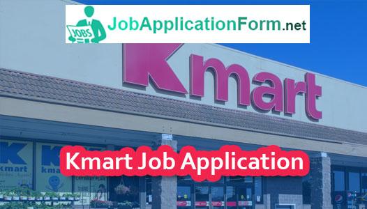 Kmart Application Online & PDF 2019