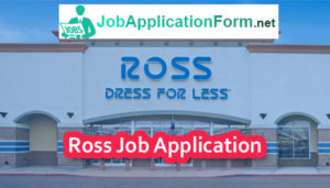 Ross Dress For Less Application Online PDF & 2019   Careers