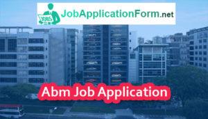 Abm Job Application Form