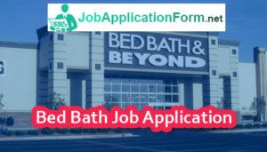 Bed Bath Job Application Form