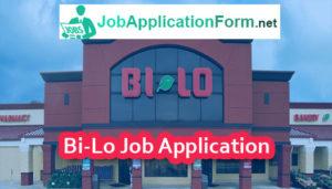 Bi-Lo Job Application Form
