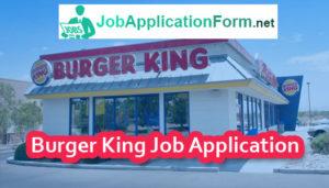 Burger King Job Application Form