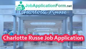 Charlotte Russe Job Application Form