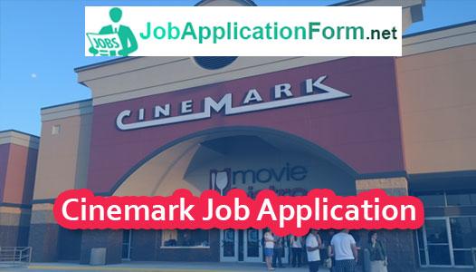 Cinemark Job Application Form 2019