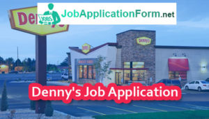 Denny's Job Application Form