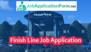 Finish Line Job Application Form
