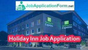 Holiday Inn Job Application Form