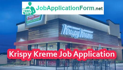 Krispy Kreme Job Application Form
