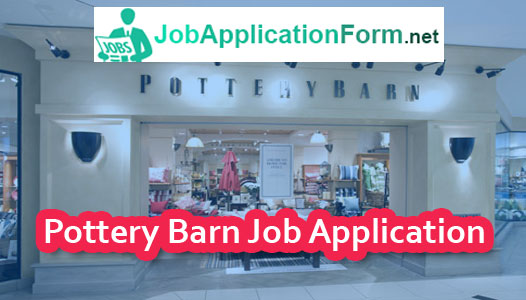 Pottery Barn Application Online