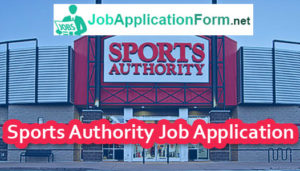 Sports Authority Job Application Form