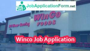 Winco Job Application Form