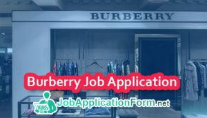 Burberry Job Application Form