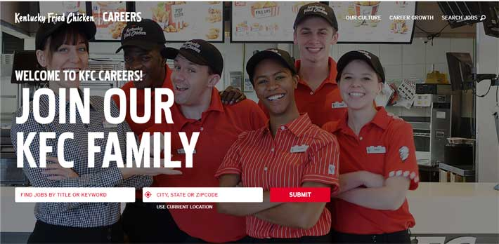 KFC Application Online
