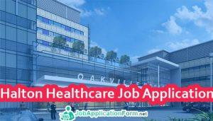 Halton Healthcare Job Application Form