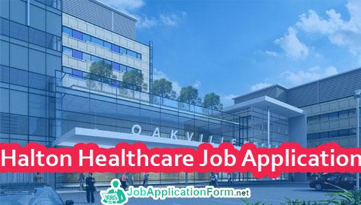 Halton Healthcare Job Application Form 2019